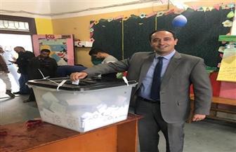 مدير صندوق مكافحة الإدمان يدلي بصوته في الاستفتاء على التعديلات الدستورية