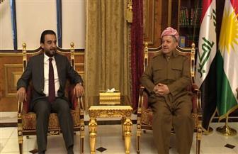 بارزاني والحلبوسي يناقشان العلاقات بين بغداد وأربيل وأوضاع نينوى