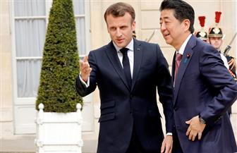 ماكرون يستقبل رئيس وزراء اليابان في الإليزيه | صور