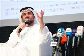 حسين الجسمي يختتم جلسات ملتقى الإعلام العربي بالكويت متحدثا | صور