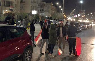 احتفالات فى القاهرة الجديدة بنتيجة الاستفتاء على التعديلات الدستورية| صور