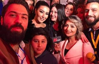 تكريم سمية الخشاب في سوريا بمهرجان دعم الشباب والأفلام القصيرة | صور