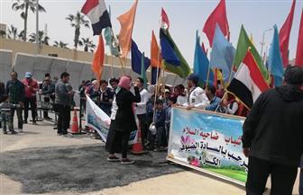 محافظ شمال سيناء يضع إكليلا من الزهور على النصب التذكاري في ذكرى 25 أبريل