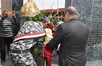 محافظ الغربية يضع إكليلا من الزهور على النصب التذكاري للشهداء فى ذكرى تحرير سيناء | صور