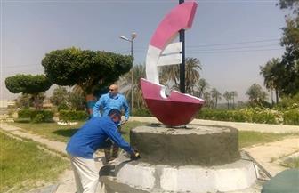 رئيس مدينة الطود يتفقد تطوير الحدائق وتركيب خطوط الصرف الصحي الجديدة | صور