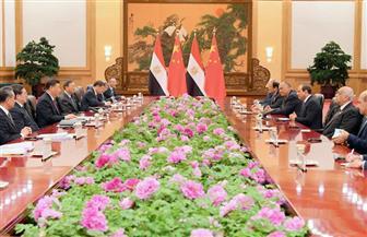 تفاصيل لقاء الرئيس السيسي بنظيره الصيني شي جين بينج بقاعة الشعب الكبرى| صور