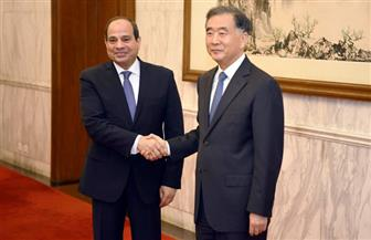 الرئيس السيسي يلتقي رئيس المجلس الوطنى للمؤتمر الاستشاري لحزب الشعب الصينى