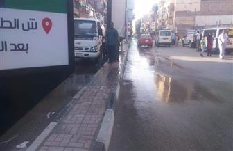 رفع 2 طن  قمامة وأتربة بأكثر الشوارع الحيوية بالأقصر | صور