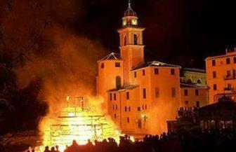مطرانية مطاي تصدر بيانا توضح فيه ملابسات حريق كنيسة مارجرجس