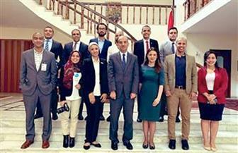 سفير مصر بإثيوبيا يستقبل المصريين المشاركين بالمنتدى الإفريقي للشباب