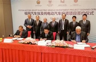 مصر تبدأ تصنيع الأوتوبيسات الكهربائية.. العصار ونصار يشهدان توقيع اتفاقية للإنتاج المشترك مع الصين