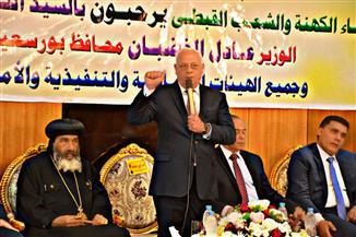 محافظ بورسعيد يزورالكنائس لتهنئة الأقباط بعيد القيامة | صور
