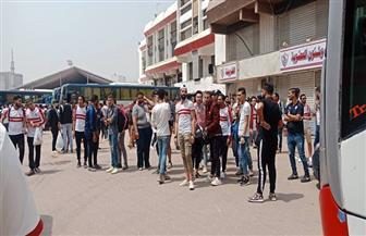 حافلات جماهير نادي الزمالك تتحرك إلى ملعب برج العرب | صور