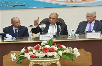 وزير الزراعة يناقش الأبعاد القومية لترشيد استخدامات المياه خلال المؤتمر الدولي للمجمع العلمي المصري | صور