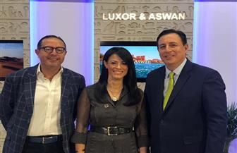 وزيرة السياحة تعقد لقاء إعلاميا على هامش ملتقى سوق السفر العربية ATM | صور