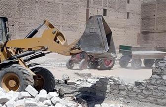 إزالة حالة تعد على أرض زراعية بعزبة 3 في كفر سعد بعد أن استغل أصحابها إجازة العيد