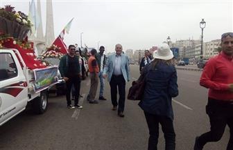 موكب الزهور يجوب الإسكندرية احتفالا بشم النسيم |صور
