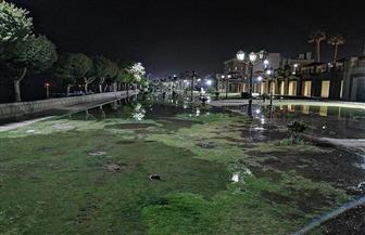 في شم النسيم.. إغراق كورنيش الأقصر بالمياه يغضب الأهالي.. ورئيس المدينة: للحفاظ على جهود عمال النظافة | صور