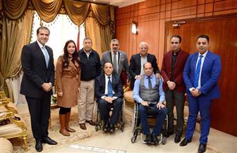 """محافظ بورسعيد يستقبل رئيس المجلس القومي للإعاقة ونواب """"مستقبل وطن"""""""