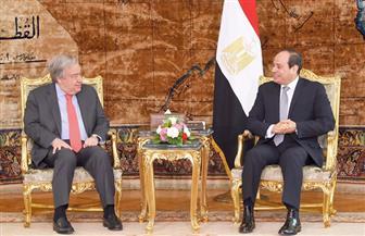 """الرئيس السيسي يستقبل سكرتير عام الأمم المتحدة.. و""""جويتريش"""" يشيد بجهود مصر لإتمام المصالحة الفلسطينية"""