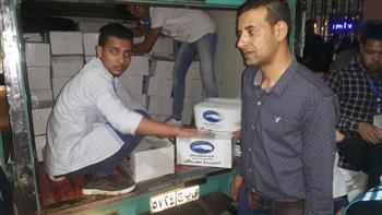"""""""مستقبل وطن"""" يوزع مواد غذائية مجانية على الأسر أكثر احتياجا في بورسعيد بمناسبة عيد الأضحى"""