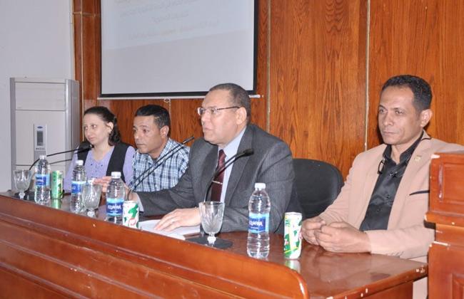 أهمية التعديلات الدستورية في ندوة لطلاب جامعة الوادي الجديد  صور -