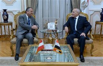 العصار وسفير النمسا يبحثان تعزيز سبل التعاون المشترك| صور