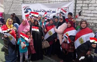 """أمانة المرأة بـ""""مستقبل وطن"""" تقود حملة للتوعية بالتعديلات الدستورية في شوارع الشرقية"""