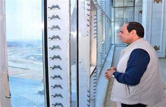 الرئيس السيسي يتفقد سير العمل بعدد من المشروعات الإنشائية بالعاصمة الإدارية الجديدة| صور