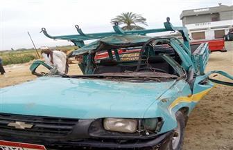 مصرع قائد سيارة نقل اصطدم بشجرة على طريق (القاهرة - الفيوم)