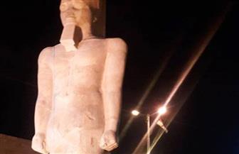وزير الآثار يرفع الستار عن تمثال رمسيس الثاني بمدينة أخميم في سوهاج |صور