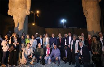 وزير الآثار يفتتح مشروع ترميم تمثال رمسيس الثاني بأخميم | صور