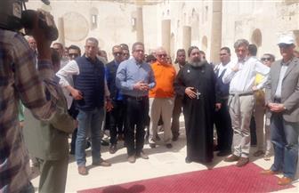وزير الآثار يتفقد الدير الأحمر بسوهاج | صور