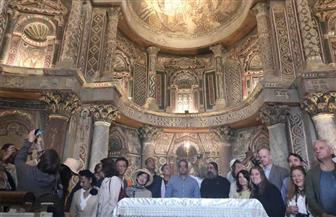 تفاصيل زيارة وزير الآثار وسفراء 40 دولة عربية وأجنبية للديرين الأبيض والأحمر بسوهاج |صور