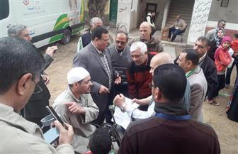 الكشف على 1150 مريضا في القافلة الطيبة بقرية أبيوقا في كفر الشيخ   صور