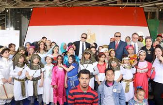 """""""الآثار"""" تحتفل بمرور 100 عام على تأسيس منظمة العمل الدولية بزرع 100 شجرة بالمتحف المصري الكبير   صور"""