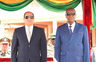 الرئيس السيسي ونظيره الغينى يصدران بيانًا مشتركًا.. ويؤكدان على الروابط التاريخية بين البلدين