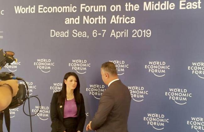 وزيرة السياحة تعقد لقاءات إعلامية في ختام مشاركتها بالمنتدى الاقتصادي العربي   صور -