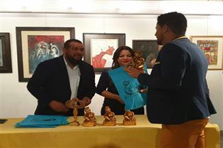 تكريم الفائزين بجوائز ملتقى رؤى عربية بقاعة الأهرام للفنون | صور
