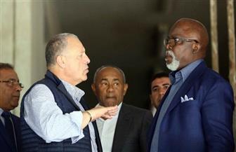"""رئيس """"كاف"""" يتفقد ستاد القاهرة قبل """"أمم إفريقيا"""""""