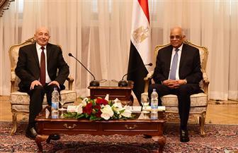 على عبد العال يستقبل رئيس مجلس النواب الليبي| صور