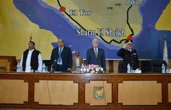 محافظ جنوب سيناء يكرم مواطنا ومتفوقين رياضيا ورئيس مدينة خلال فعاليات اجتماع المجلس التنفيذي   صور