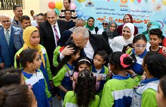 رئيس جامعة القاهرة يشهد احتفالية كلية الدراسات العليا للتربية بيوم اليتيم | صور