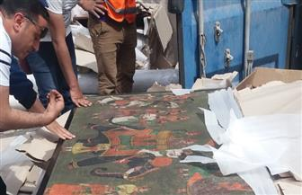 نيابة السويس تحقق في قضية ضبط شحنة آثار بالسخنة| صور