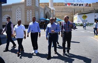 المتحدث الرئاسي ينشر فيديو لجولة الرئيس السيسي بمنطقة النخيل