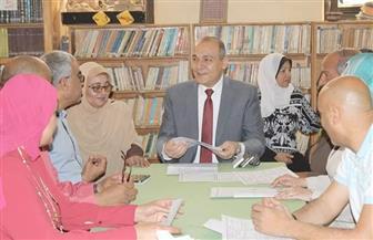 مدير تعليم القاهرة يتفقد غرفة العمليات المركزية لامتحانات الشهادة الإعدادية   صور