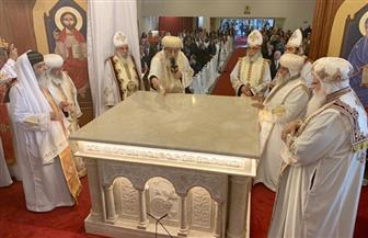 البابا تواضروس يدشن كنيسة العذراء بدوسلدروف خلال جولته الرعوية في ألمانيا | صور
