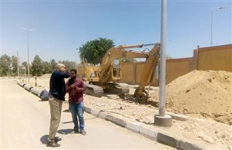 عياد يتفقد مدينة الطود بالأقصر ويتابع تركيب ٢٩ كشاف ليد بمنطقة النجاجرة | صور