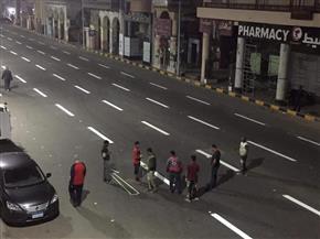 تخطيط شارع محمد علي في بورسعيد بعد انتهاء أعمال رصفه | صور