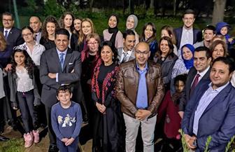 سفير القاهرة في بلجراد يلتقى الجالية المصرية في صربيا بحضور بطلتي مصر في التايكوندو | صور